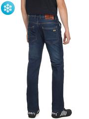 910 джинсы мужские утепленные, синие