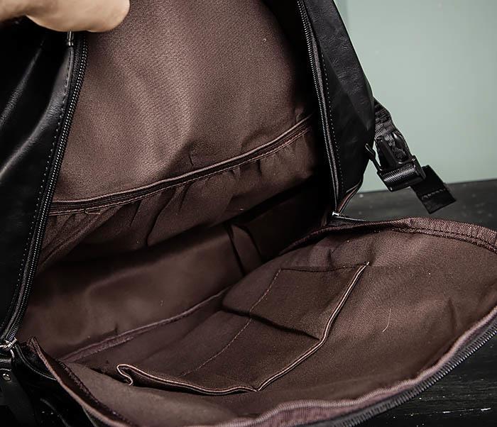 BAG483-1 Недорогой мужской городской рюкзак из кожи фото 11