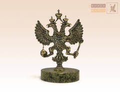 Герб России средний на змеевике