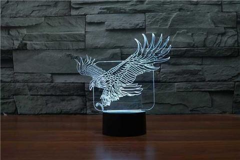 3D лампа Орёл