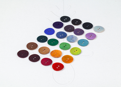 Перламутровые пуговицы 12, 15 мм, 24 цвета