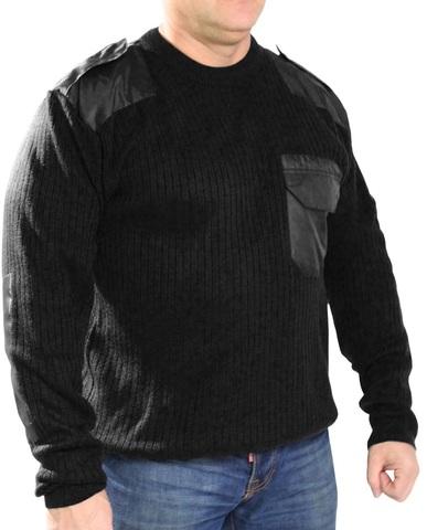 Джемпер свитер мужской (круглый вырез, черный)