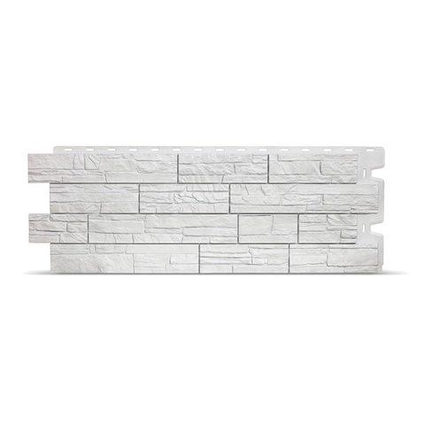 Фасадная панель Деке Камень 1098х400 мм Молочный