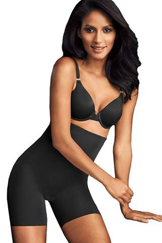 Корректирующие панталоны черные с завышенной линией талии