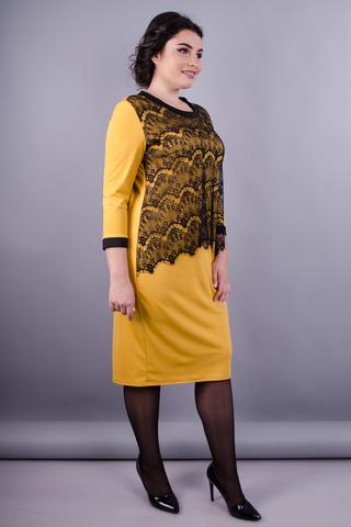 Вінтаж. Святкова сукня плюс сайз для жінок. Золотистий.