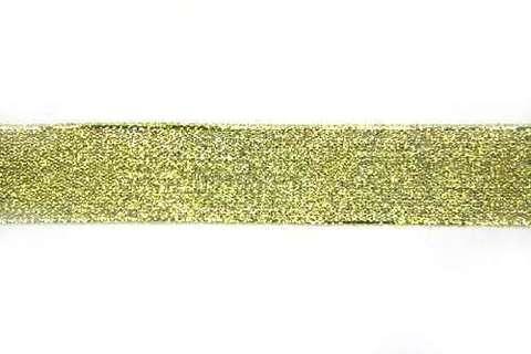 Лента металлизированная. МЕТРАЖОМ, Золото.  (выбрать размер)