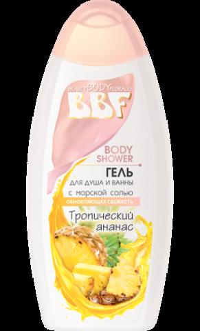 Floralis BBF Гель для душа и ванны с морской солью Тропический ананас 350г