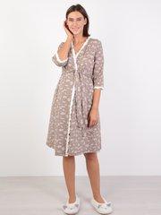 Евромама. Комплект халат и сорочка с лифом-корзинкой, капучино вид 2