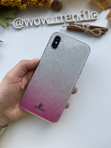 Чехол iPhone 11 Swarovski Case /pink/