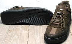 Темно коричневые кроссовки мужские осенние Luciano Bellini 71748 Brown