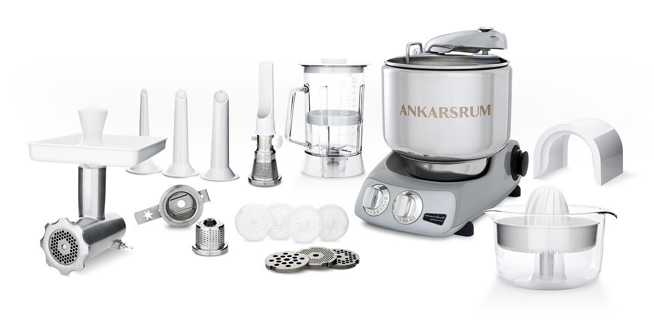 Тестомес комбайн Ankarsrum AKM6230JS+ Assistent серебристо-серый (расширенный)