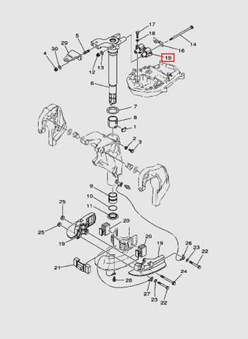 Демпфер верхний для лодочного мотора T40 Sea-PRO (20-15)