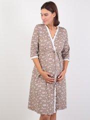 Евромама. Комплект халат и сорочка с лифом-корзинкой, капучино вид 3
