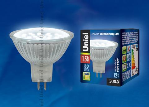 LED-JCDR-SMD-1,5W/DW/GU5.3 105 lm Светодиодная лампа. Картонная упаковка.