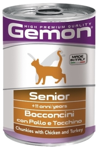 Gemon Cat Senior Chunkies with Chicken & Turkey