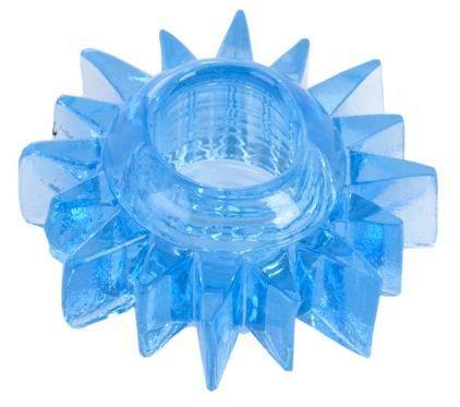 Эрекционные кольца: Голубая гелевая насадка-солнце