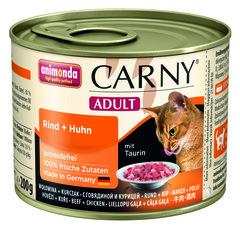 Animonda Carny Adult консервы для взрослых кошек с говядиной и курицей 200гр
