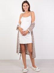 Евромама. Комплект халат и сорочка с лифом-корзинкой, капучино вид 1