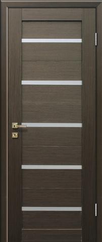 Дверь Profil Doors №7X-Модерн, стекло матовое, цвет венге, остекленная