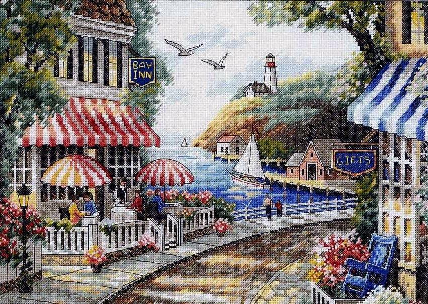 Набор для вышивания Кафе у моря. Арт. 3114