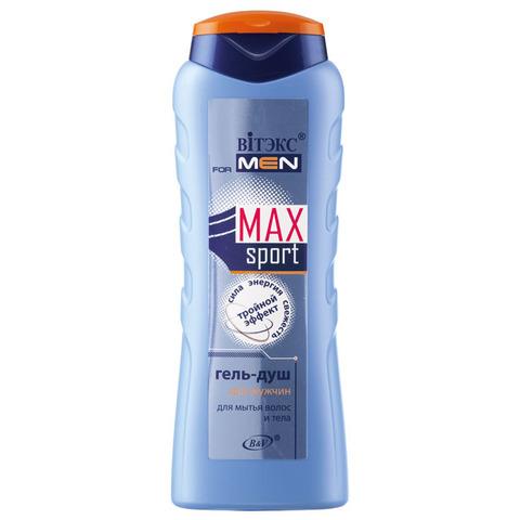 Витэкс MaxSport Гель-душ для мытья волос и тела для мужчин «Тройной эффект» 400 мл