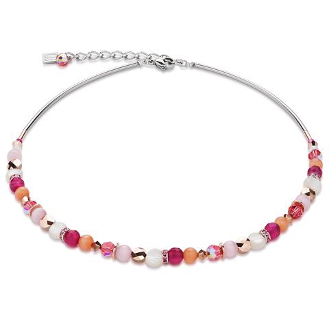 Колье Coeur de Lion 4914/10-0402 цвет розовый, оранжевый, белый