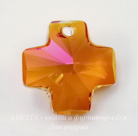 6866 Подвеска Сваровски Крестик Crystal Astral Pink (20 мм) ()