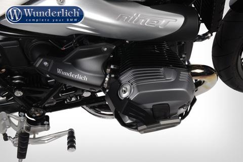Защитные крышки инжектора BMW R NineT, черная С ПОТЕРТОСТЯМИ НА ПЛАСТИКЕ