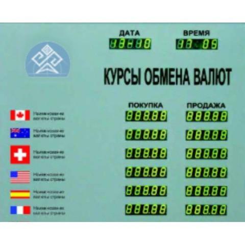 Табло курсов валют Kobell TEK 4