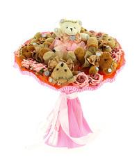 7 медвежат в розовом