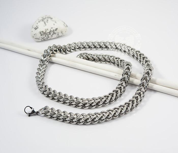PM242 Крупная мужская цепочка из ювелирной стали квадратного сечения (58 см) фото 02