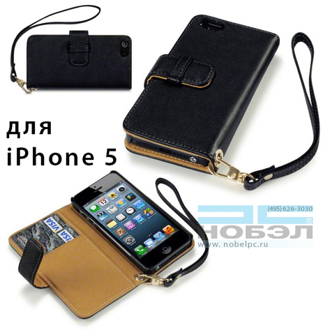 Чехол для iPhone terrapin для iPhone SE / 5S Terrapin кожа Wallet Case - черный/цветы