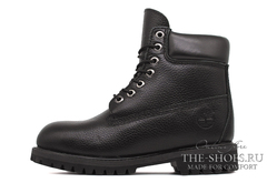Ботинки Мужские Timberland 10061 Waterproof Black Leather с Мехом