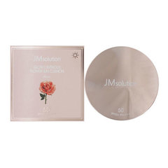 JMsolution Glow Luminous Flower Sun Cushion SPF50+ - Солнцезащитный кушон с экстрактом розы