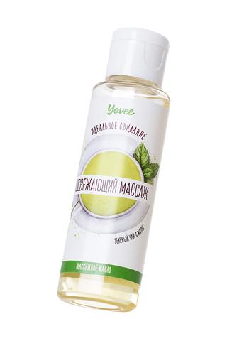 Масло для массажа Yovee by Toyfa «Освежающий массаж», с ароматом зеленого чая и мяты, 50 мл фото