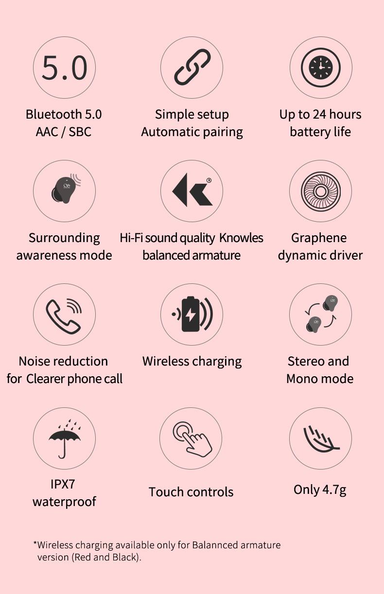 Shanling MTW100 TWS BA black, внутриканальные наушники