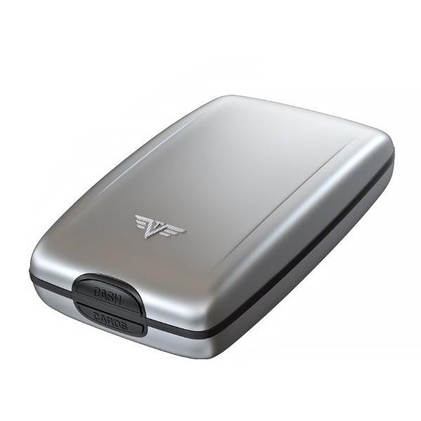 Кошелек c защитой Tru Virtu OYSTER 2, цвет серебристый, 110*69*28 мм