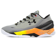 Кроссовки Мужские Under Armour Curry Two Low Grey Black Fire