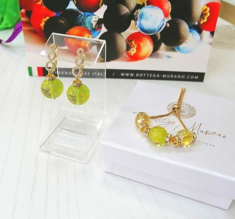 Комплект из браслета и серег со стразами Franchesca Medio Ca'D'oro 5204