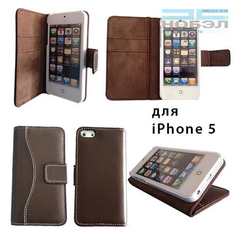 Чехол для iPhone bear-motion для iPhone SE / 5S Bear Motion Luxury кожа натуральная коричневый