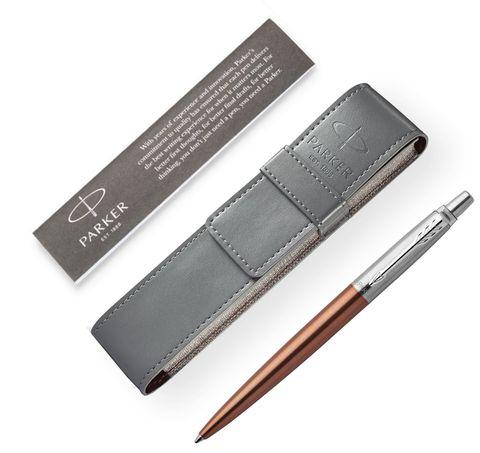 Подарочный набор с чехлом и Шариковая ручка Parker Jotter Essential, Chelsea Orange CT123