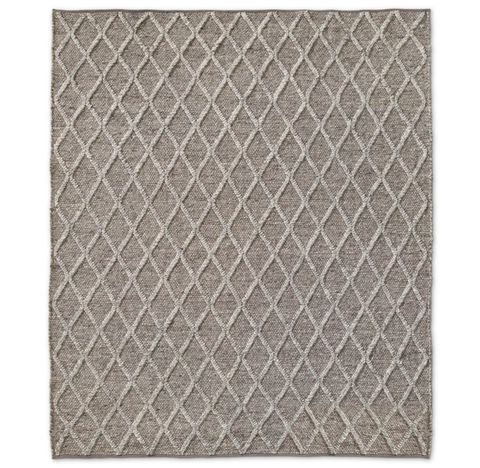 Braided Diamante Flatweave Rug - Mocha/Fog