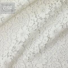 Хлопково-вискозное кордовое кружево бело-молочного цвета