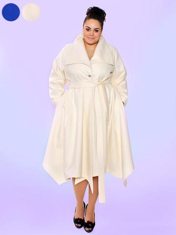 Кашемировое пальто Euphoria молочный