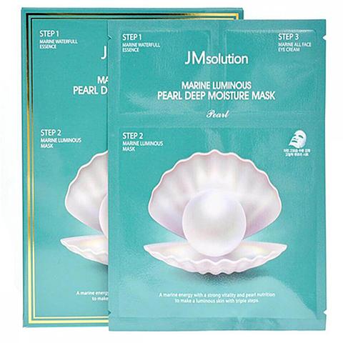 JMsolution Набор трёхшаговый увлажняющий с жемчугом - Marine luminous pearl deep moisture mask, 30мл