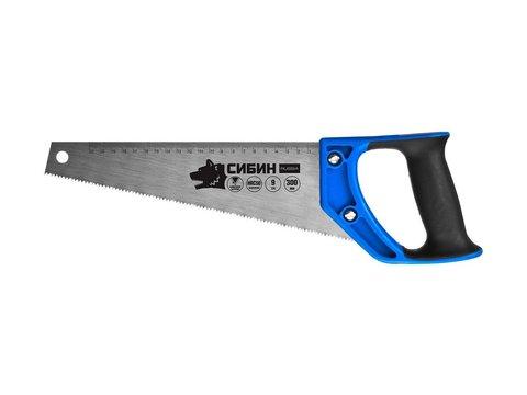 Ножовка по дереву компактная (пила) ТУЛБОКС 300 мм, шаг 9 TPI (3 мм), СИБИН