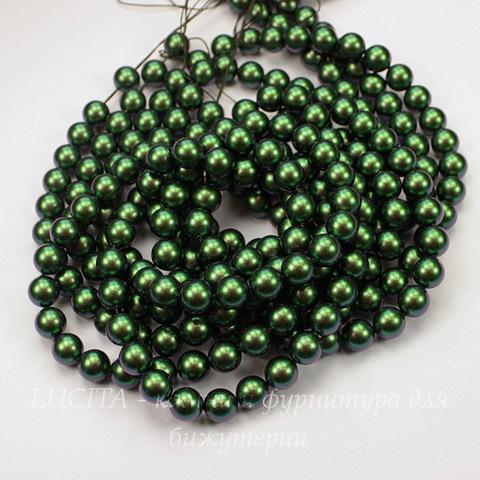 5810 Хрустальный жемчуг Сваровски Crystal Scarabaeus Green круглый 8 мм , 5 шт