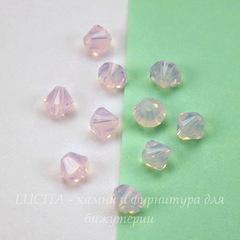 5328 Бусина - биконус Сваровски Rose Water Opal 4 мм, 10 штук
