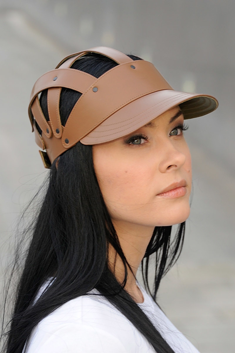HeadWearStudio кожаная кепи Сhestnut Uni Brown Cap