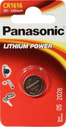 Батарейки литиевые Panasonic CR1616 BL1